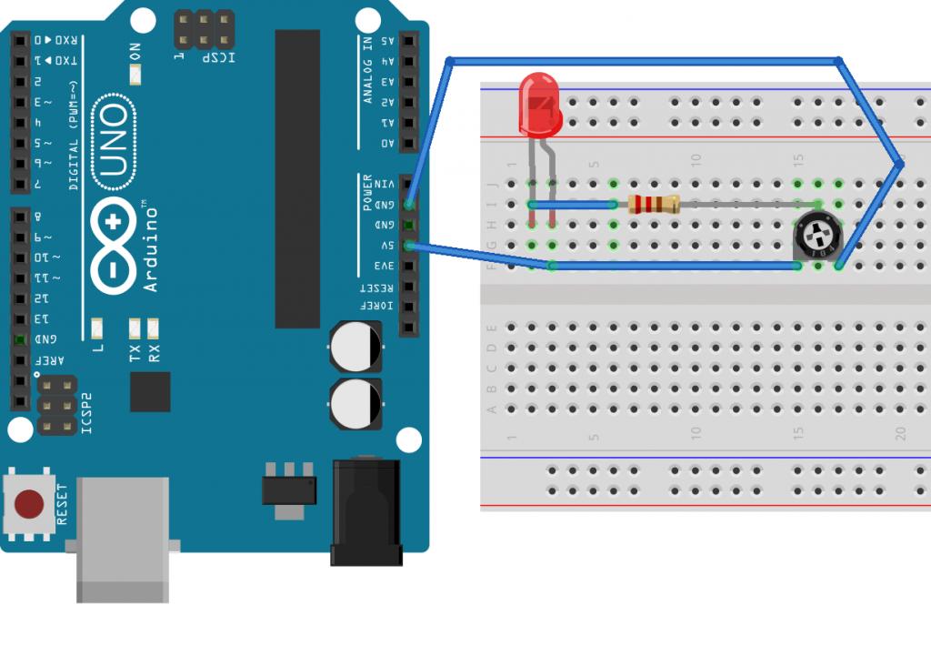 Potenciómetro en Arduino modo Rufián