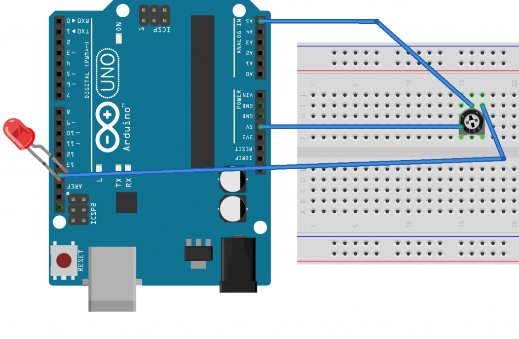 Potenciómetro en Arduino modo fácil