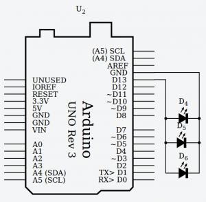 circuito en paralelo conectado a Arduino