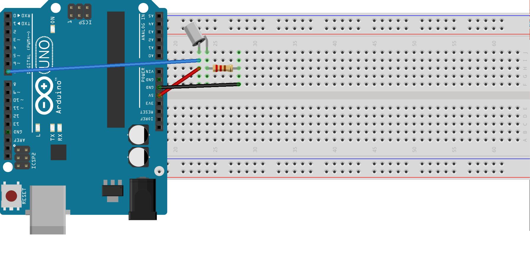 sensor de inclinación en Arduino