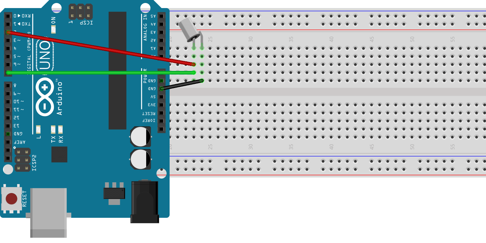 Conectar un tilt switch con pines digitales en Arduino