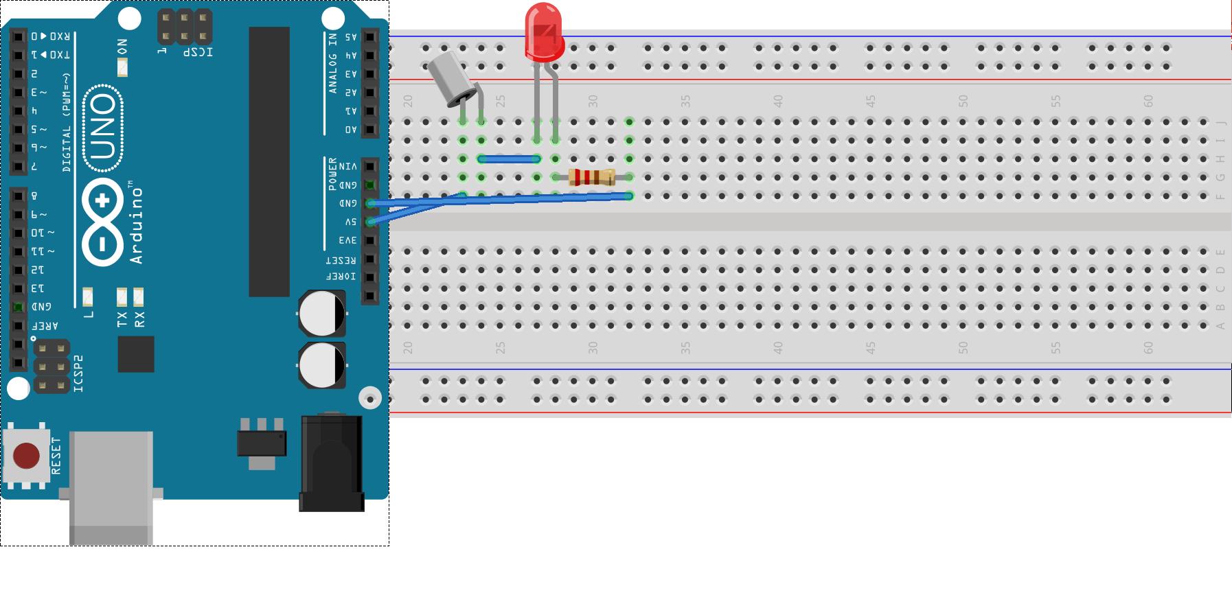 Tilt Switch con una batería